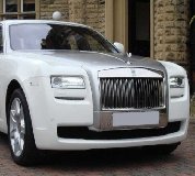 Rolls Royce Ghost - White Hire in Swansea